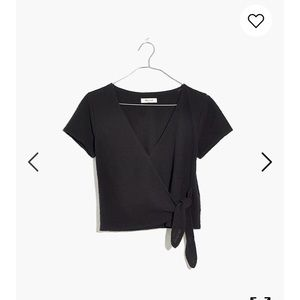 Texture & Thread Wrap-Tie Top from Madewell